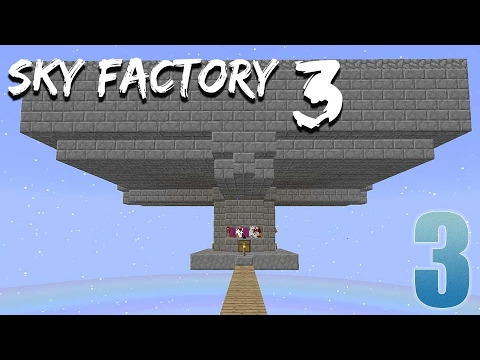 Fully Automatic Mob Grinder!!!! - FTB Sky Factory 3 - Ep. 3
