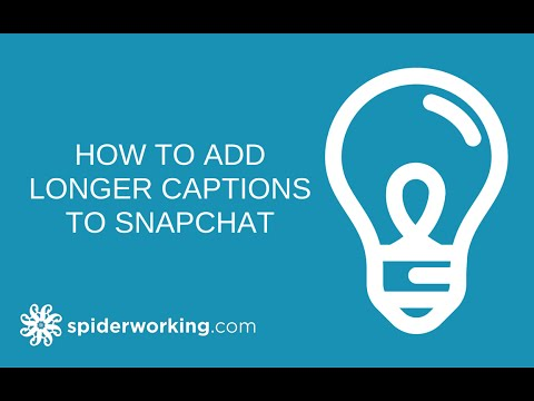 How To Write Long Captions On Snapchat - Quick Snapchat Tip