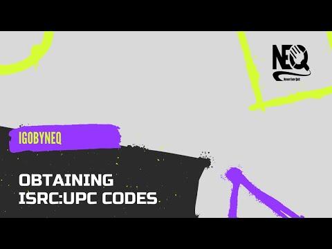 Obtaining ISRC:UPC Codes