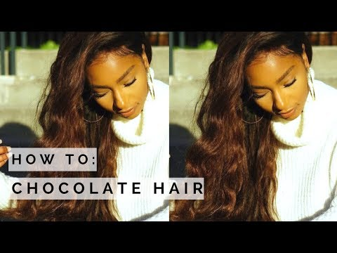 How to: Chocolate Brown Hair Tutorial- no bleach| Ali Julia Virgin Hair