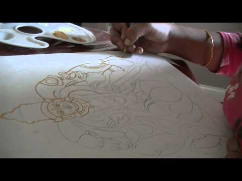 Learn tanjore painting-part2