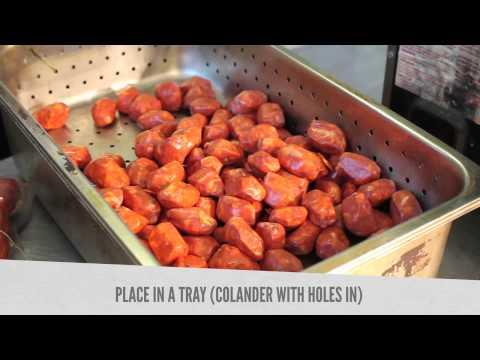 Honey glazed mini Chorizo Sausage