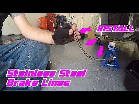 Stainless Steel Brake Line Install - Detailed Walkthrough on a 370Z