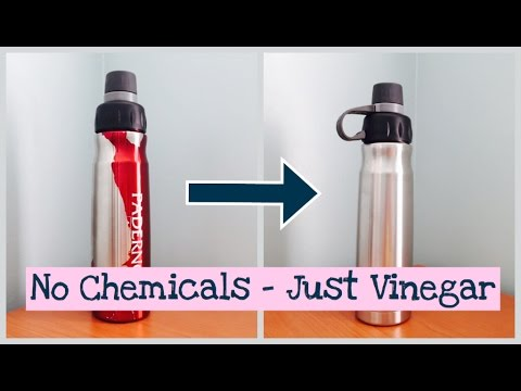 No Chemicals, Just Vinegar - Stripping/Removing Paint From Stainless Steel Water Bottle