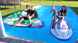 We put Jet skis in our pool!