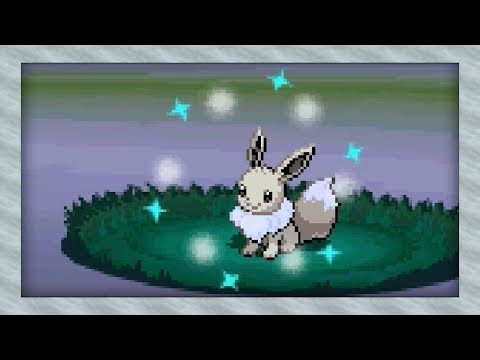 Live Shiny Eevee After 18,610 Random Encounters! (Pokémon White 2)