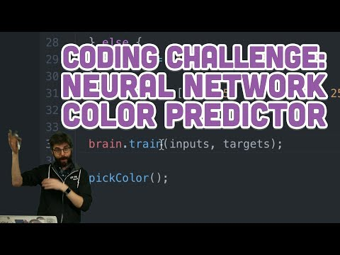Coding Challenge #99: Neural Network Color Predictor