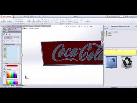 How is sketch on image in SolidWorks