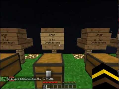 Minecraft - bugs of ChestShop server-sided plugin