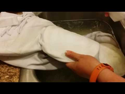 Cleaning football pants like a beast