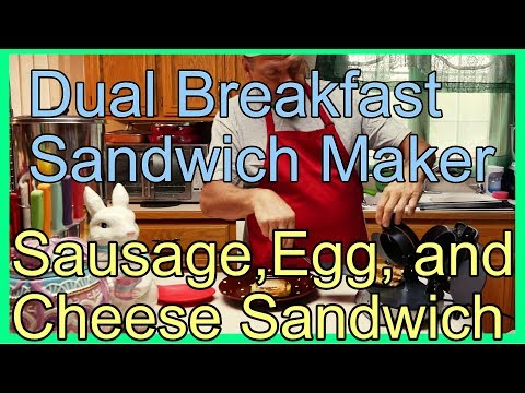 Dual Breakfast Sandwich Maker - Sausage, Egg And Cheese Sandwich