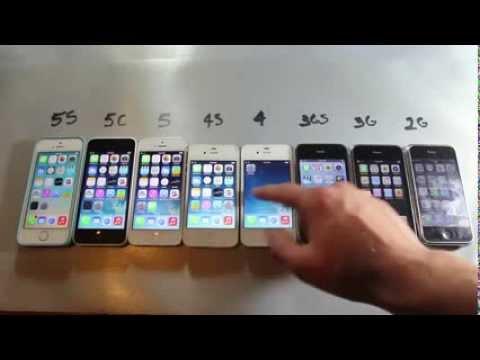 iPhone 5S vs 5C vs 5 vs 4S vs 4 vs 3Gs vs 3G vs 2G الفرق بين الايفون