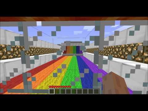 Minecraft Rainbow Runner Map
