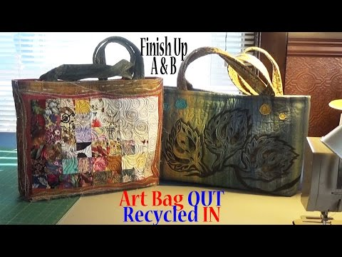 Art Tote Bag OUT, Recycled IN   Assemble Purse   Part 7(A&B) of 7   Adv Project ZSA Tutorial