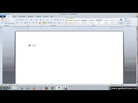 Microsoft Office Word 2010 Add Superscript or Subscript