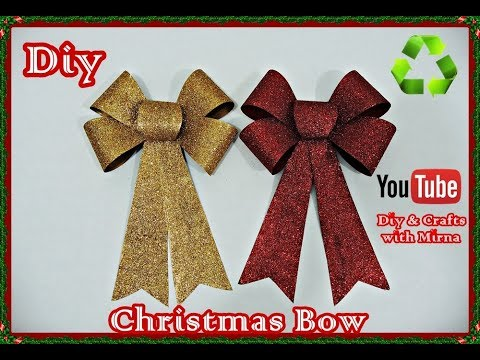 Diy.  Recycling Christmas Bow. Diy & Crafts with Mirna