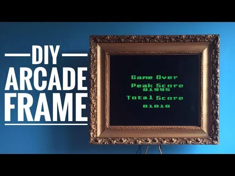 DIY Arcade Frame  (TV in a Fancy Frame)