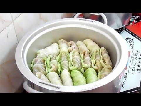 ស្ពៃក្ដោបខ្ចប់សាច់ជ្រូក/Asian Food/Cambodian food