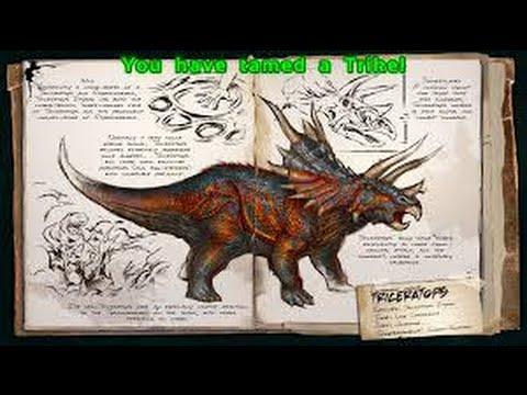 Ark Survival Evolved- Taming Trike(Triceratops)