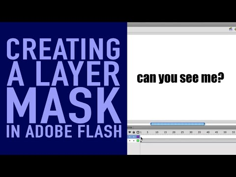 Creating a Layer Mask - Flash CS5 Tutorial