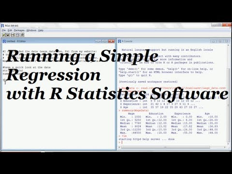 Do a Linear Regression (with free R Statistics Software)
