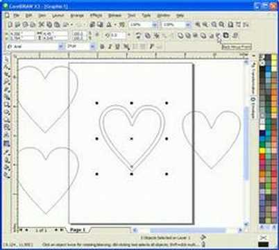 Corel Draw for Scroll Saw Pattern (Heart Box)