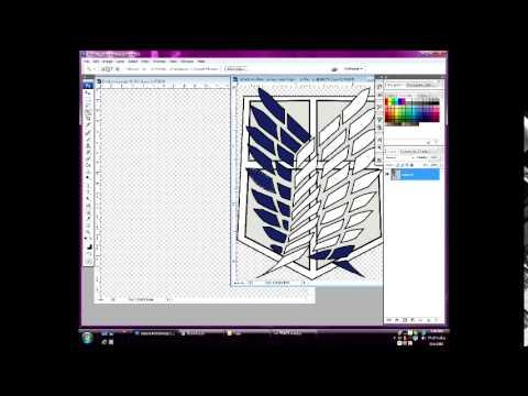 Photoshop- How to make a transparent warframe emblem background.