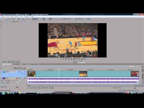 How to cut out parts of a Sony Vegas video