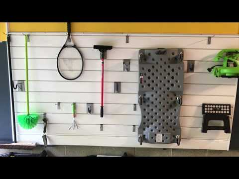 DIY Garage Shop Slat Wall Installation - Easy and Inexpensive Option to store items in your garage
