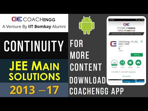 JEE Main Problems   CONTINUITY   2013 to 2017   Chapterwise Solutions - By Nitesh Choudhary