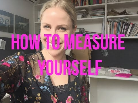 How to measure yourself for sewing | Teach Me Fashion