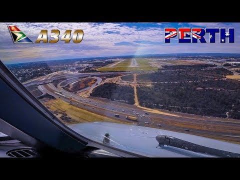 Final Approach into PERTH - Pilotsview Airbus A340