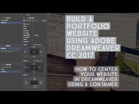 How to center your website in Dreamweaver using a container - Dreamweaver Templates [10/38]