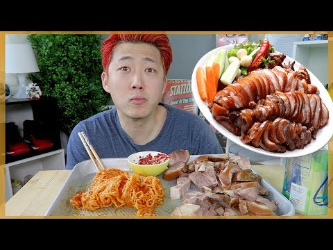 PIG FEET (JOKBAR) AND SPICY COLD NOODLE MUKBANG