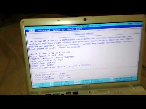 How To Access Bios ON Sony Vaio Lap Tops!!!