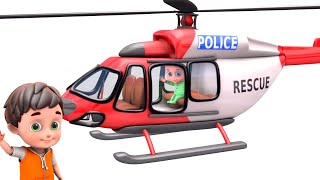 Police Chase Car - Rescue Helicopter Videos Los angeles - Kids Toys Unboxing Surprise Toys for Kids