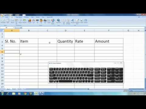 MS Excel Shortcut Key : How to Insert Column and Row