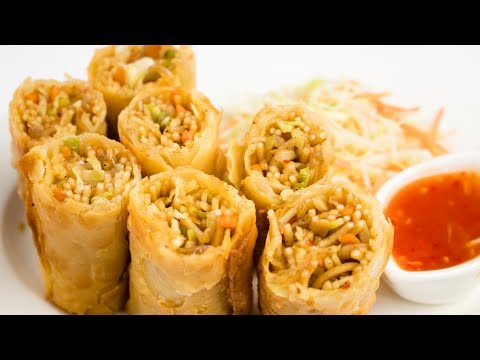 Vegetable Spring Rolls Recipe | Restaurant Style With Sheets Recipe