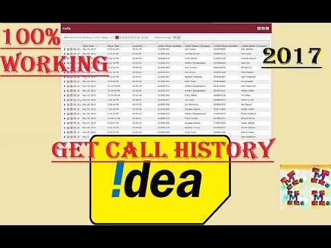 How to get call history of any Idea prepaid number | How to get call and sms details | Hindi