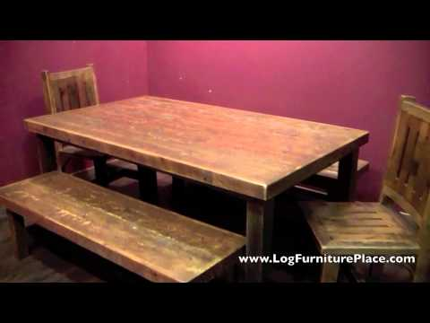 Barnwood Dining Table from the Riverwood Reclaimed Wood Furniture Collection