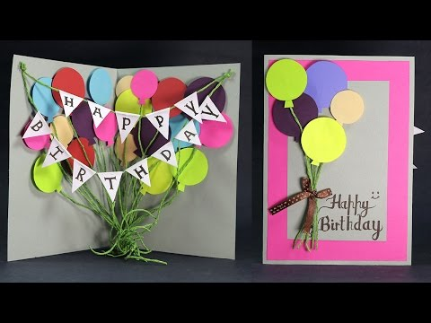 DIY Birthday Card - How to Make Balloon Bash Birthday Card Step by Step
