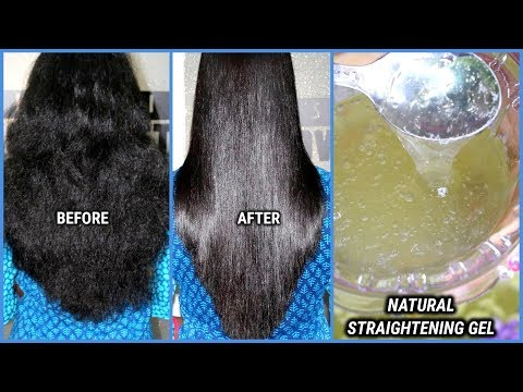 hair straightening gel/get straight smooth and shiny hair at home