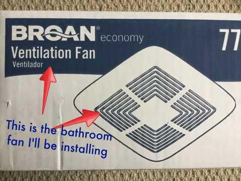 Broan Bathroom Exhaust Fan Installation
