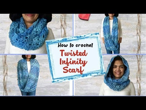 How to crochet Twisted Infinity Scarf