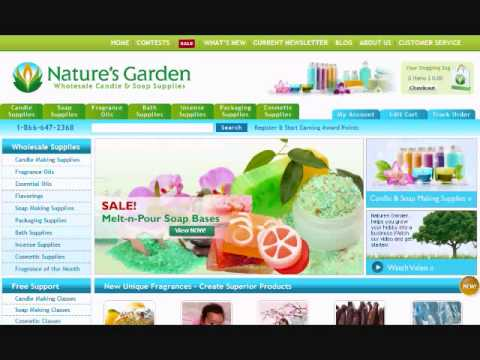 Make Candles and Soap with Natures Garden Fragrance Oils
