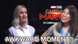 Download CAPTAIN MARVEL: Interviewing Brie Larson, Samuel L. Jackson & Gemma Chan | Janina Vela Video