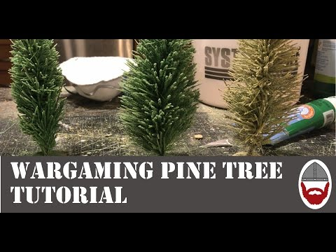 How to Make Pine Trees for Wargaming