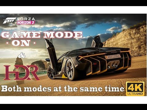 Forza Horizon 3 with GAME MODE & HDR active at the same time. NFS Rivals test.What is the Game Mode