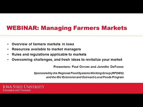Managing Farmers Markets