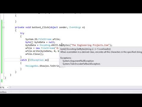 086 - How to use C# FileStream Class